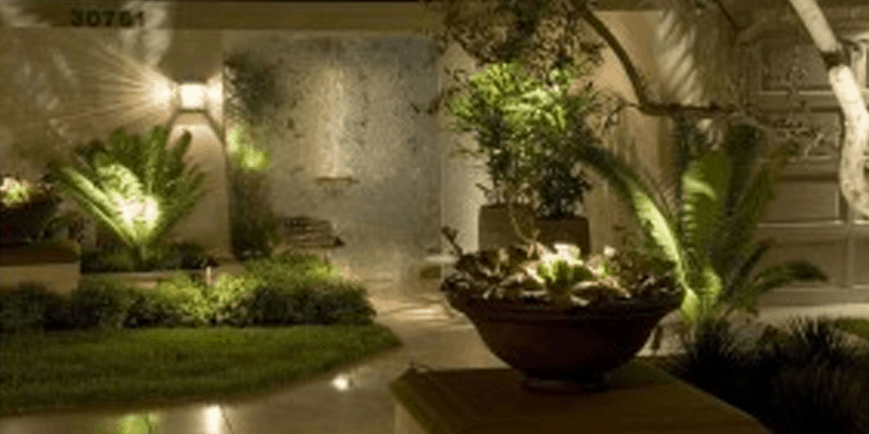 LED landscape lighting installation for Orange County and Los Angeles homes