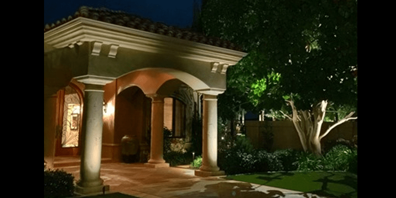 San Clemente home gets outdoor landscape lighting installation