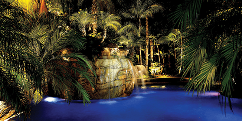 Lighting for Pool Waterfalls