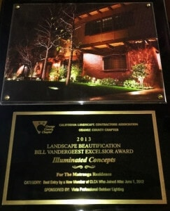 2013-CLCA-Illuminated Concepts Award- landscape lighting orange county,