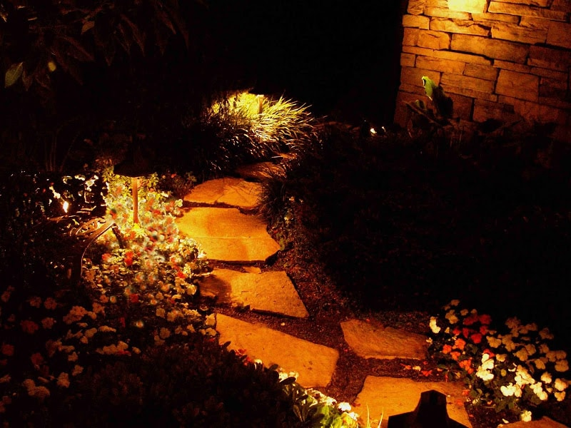 Down Lighting for Pathways
