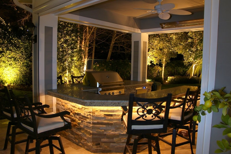 Lighting for Patio and Outdoor Kitchen