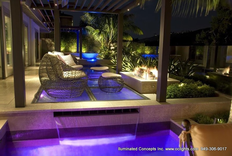 Cohesive Poolside Lighting Solutions