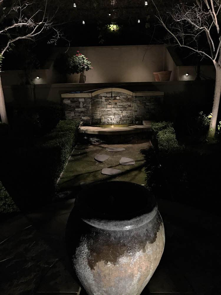 Fountain and Walkway Lighting