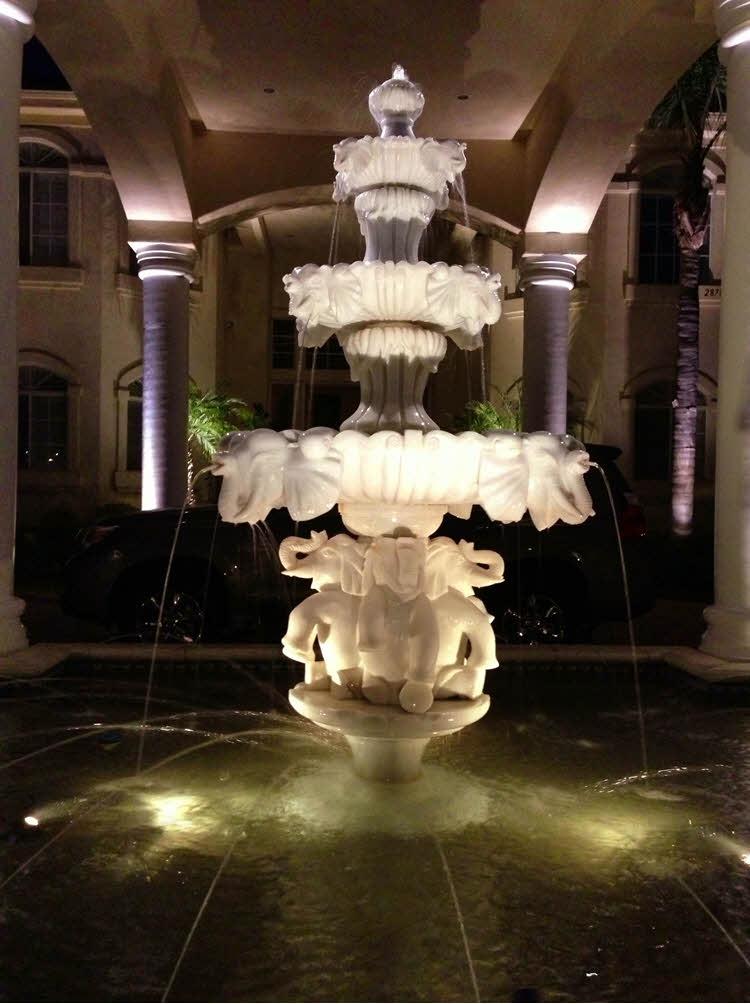 Front Yard Fountain Lighting