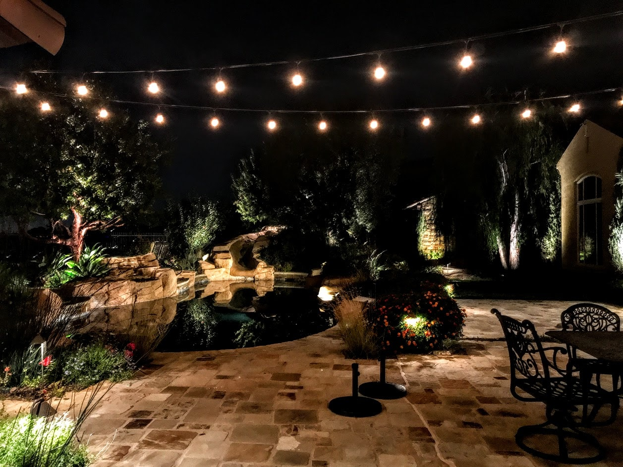 Pool-side lights