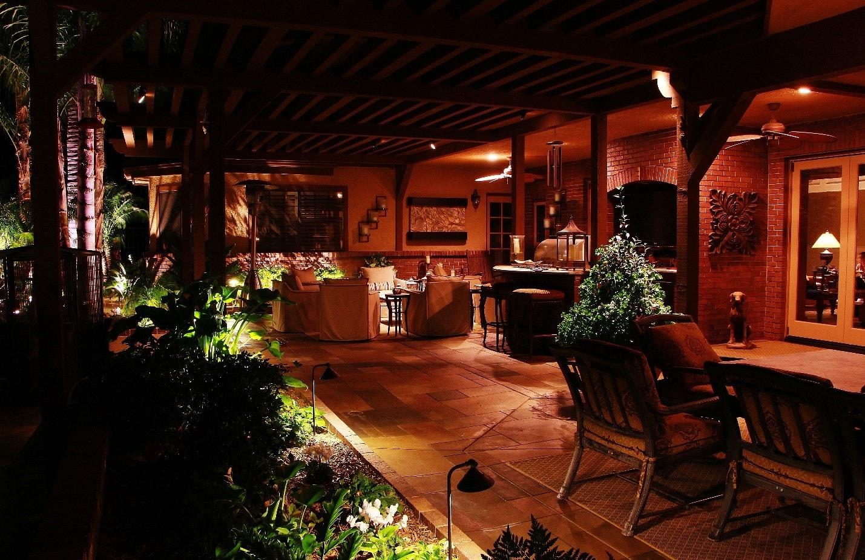 Laguna hills CA estate with patio down lighting