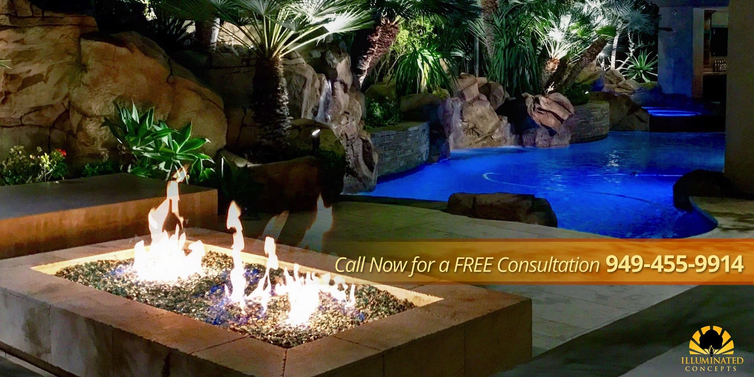 Pool Firepit Carousel Lighting Laugana hills & Orange County Ca