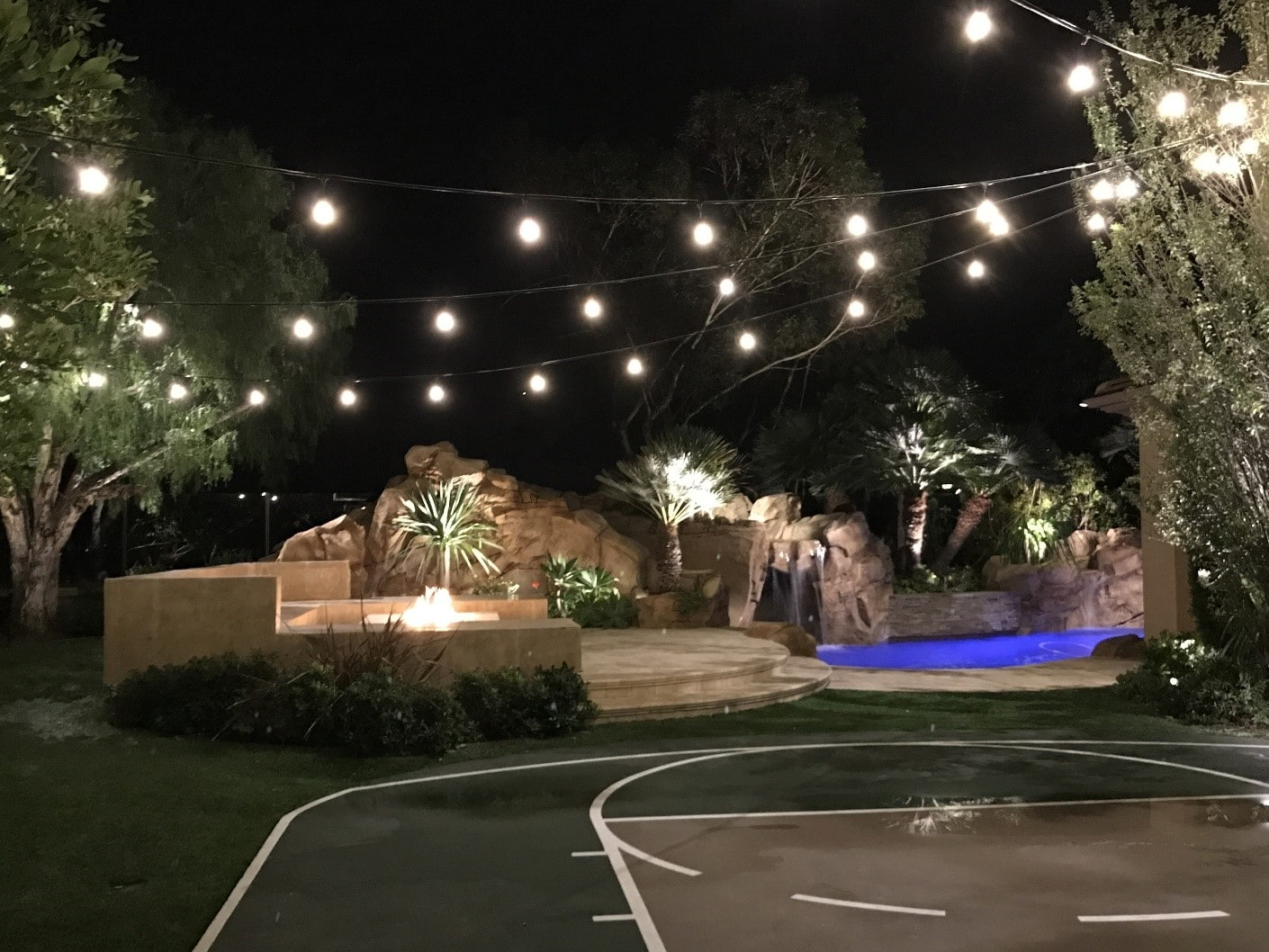 String Lighting for Night Time Activity