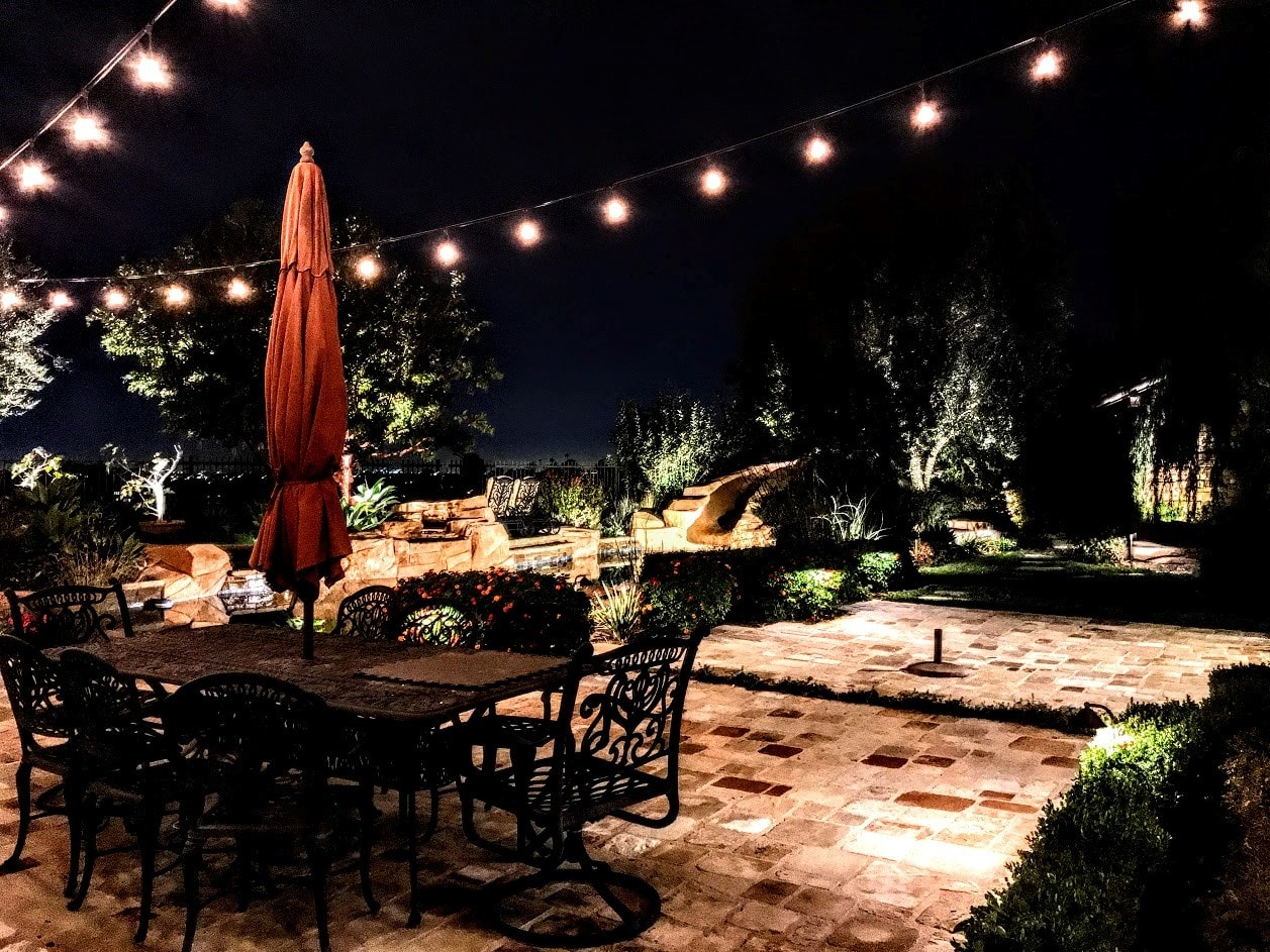 String Lighting provides for a party atmosphere