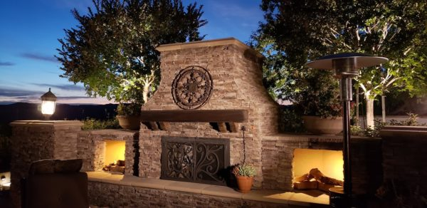 Fireplace Lighting for your extended outdoor living space.