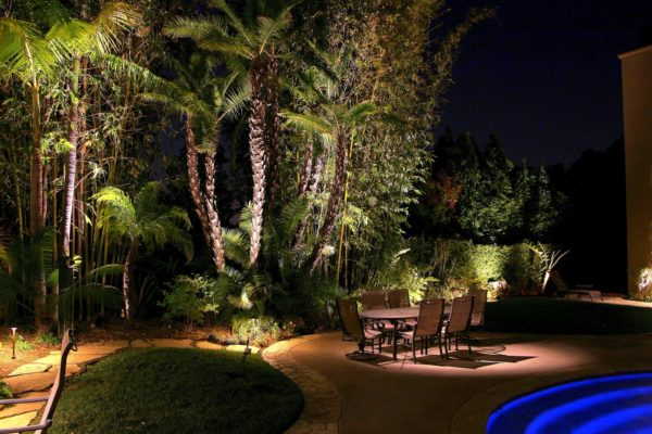 Patio table lighting for outdoor entertaining.