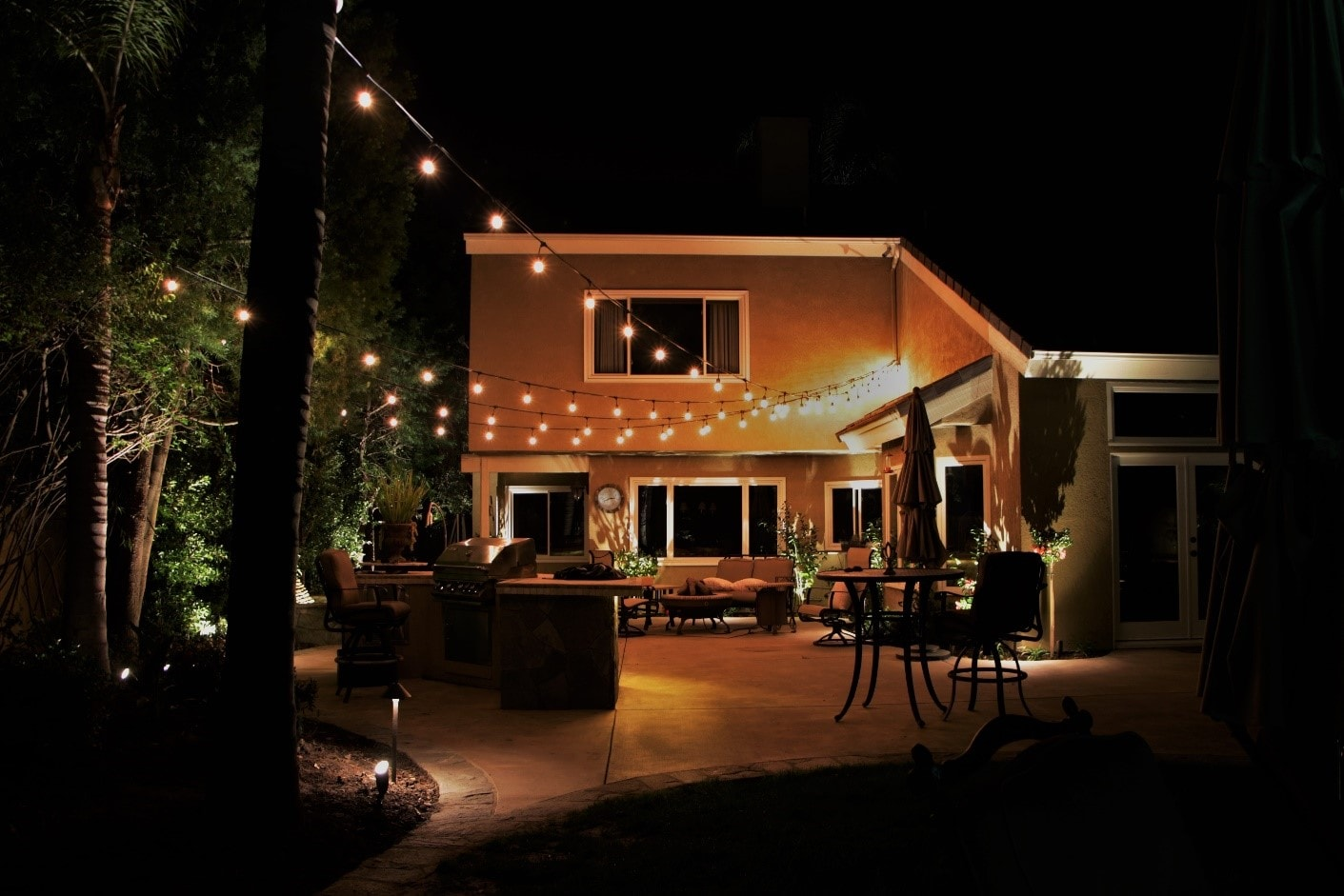 Outdoor String Lighting Design