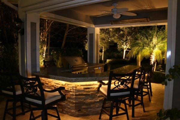 Under counter glow for your outdoor kitchen.