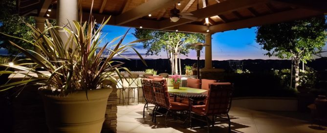 Patio Lighting Concept installed in Coto home.