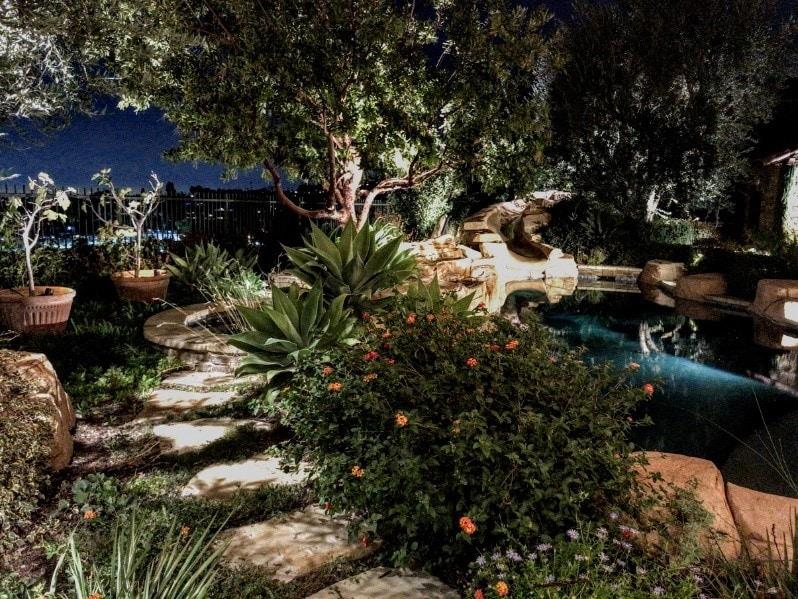 Tustin Ranch LED Backyard Lighting
